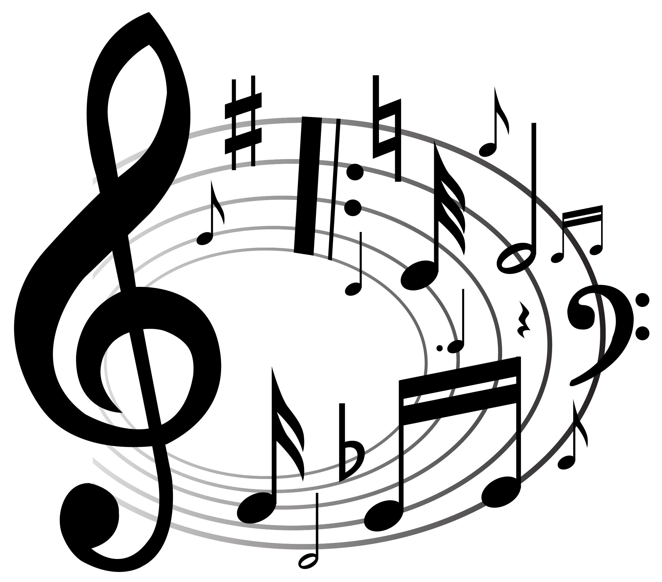 ноты и скрипичный ключ фото